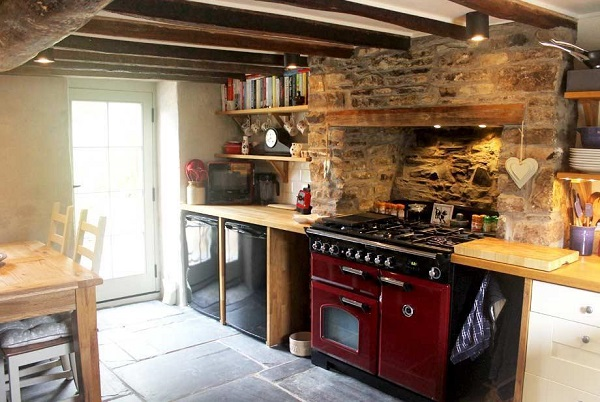 Vintage decor cottage kitchen