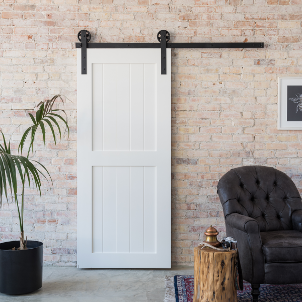 Vintage decor with sliding barn doors