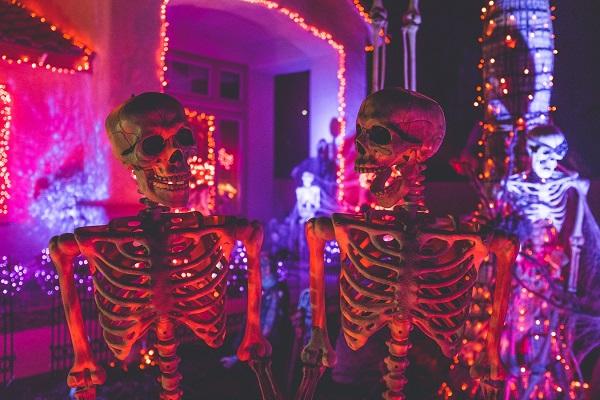 Halloween skeletons decor