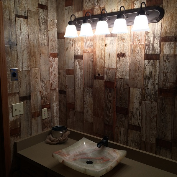 Transitional Vanity Wooden Walls