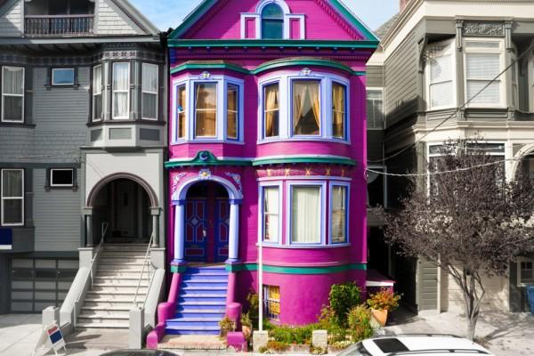Victorian Magenta Pink House