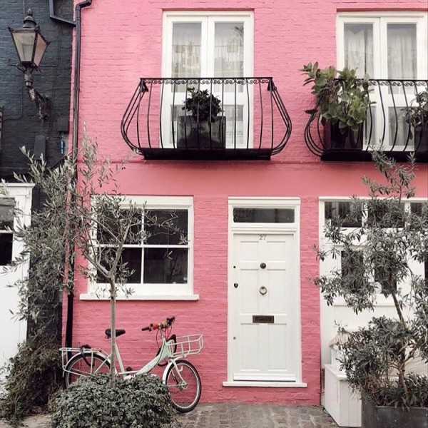 Traditional Rose Pink Townhouse