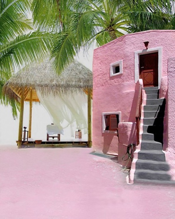 Exotic Pink Beach House