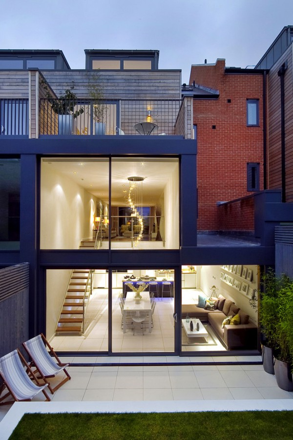Two Story Floor to Ceiling Glazing
