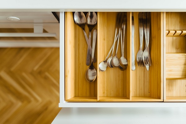 Organized Kitchen Utensil Drawer