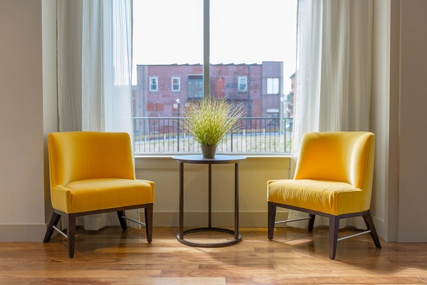 Wingback Chairs in an Accent Color