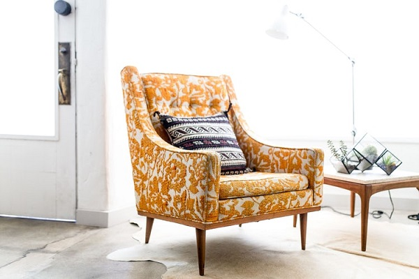 Statement Armchair in a Living Room without Sofa