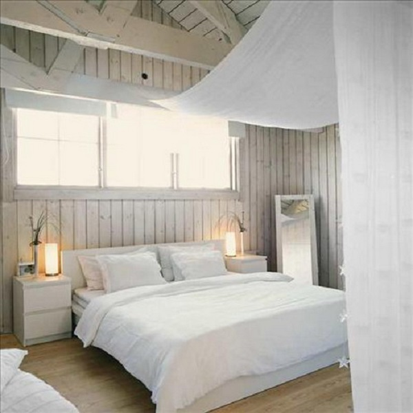 Shabby Chic Bedroom Wooden Walls