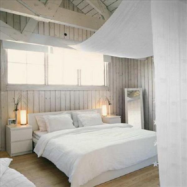 Shabby Chic Bedroom Wooden Walls