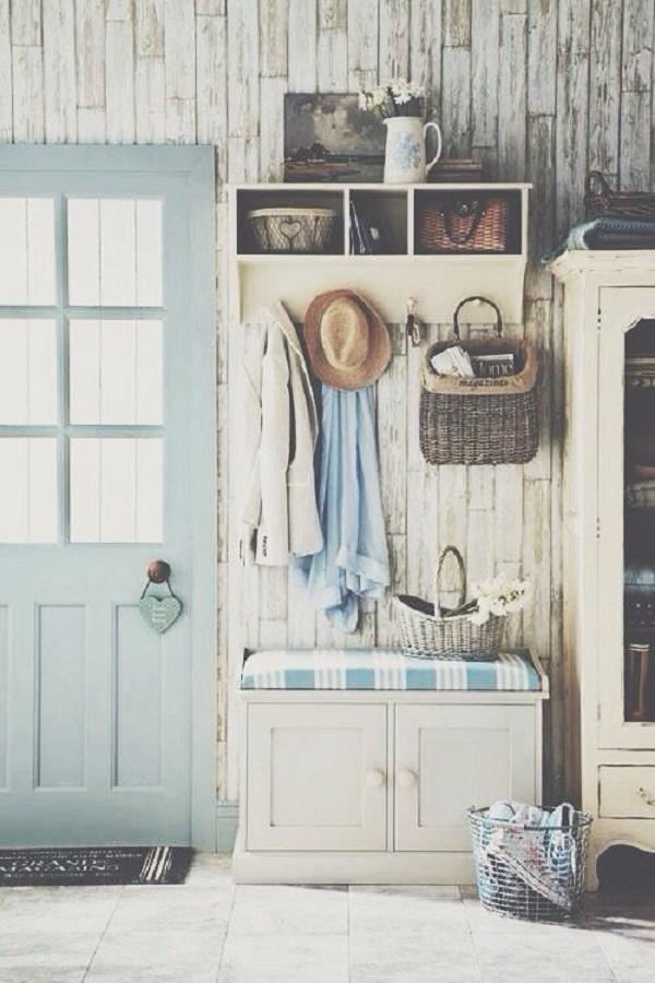 Comfy Mudrooms and Hallways Wooden Walls