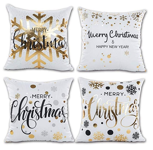 Christmas Gold Accent Pillows