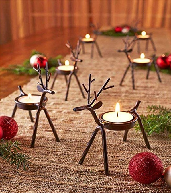 Reindeer Candle Holders