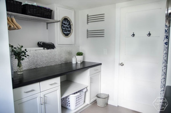 A Laundry Room Makeover (top to bottom!)