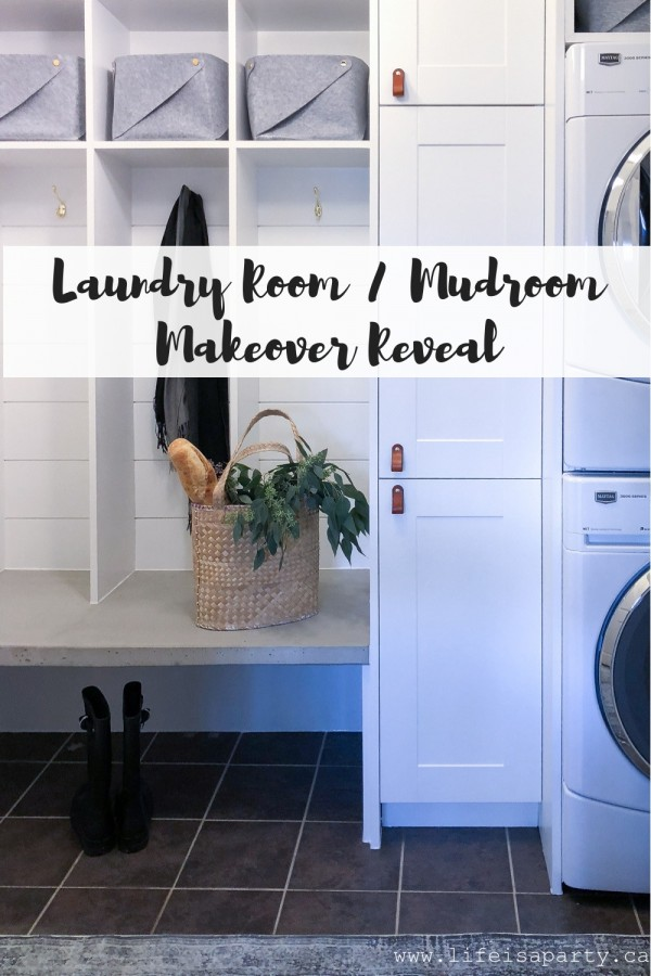 Laundry Room / Mudroom Makeover Reveal
