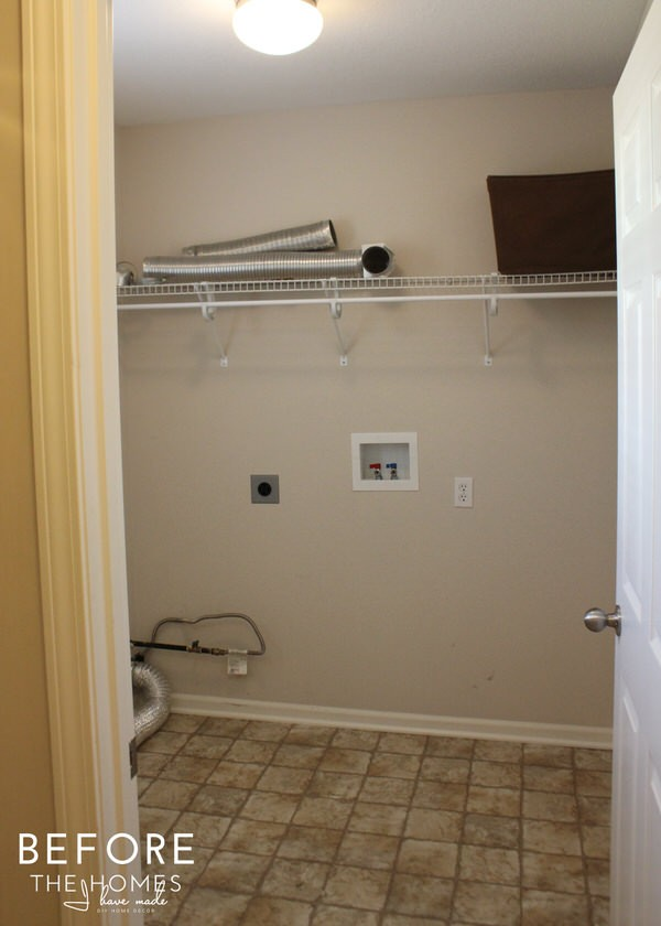 Simple & Sweet Laundry Room Reveal