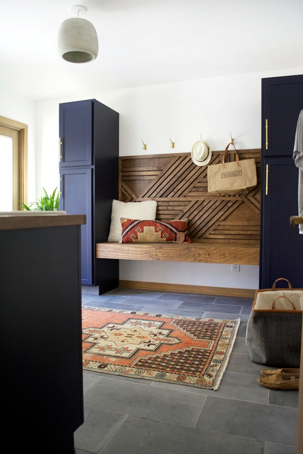 Modern Navy Laundry Room Reveal