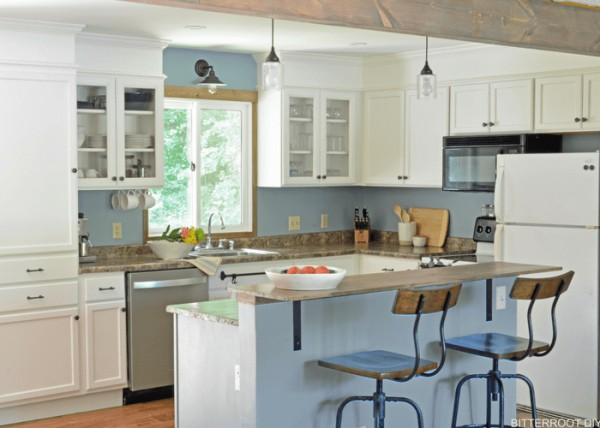 Modern Rustic DIY Kitchen Makeover Reveal