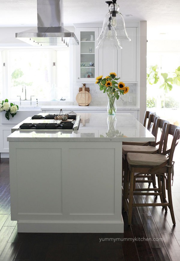 Beautiful White Marble Kitchen Remodel