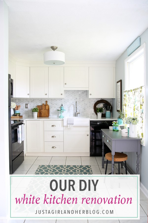Our DIY White Kitchen Renovation