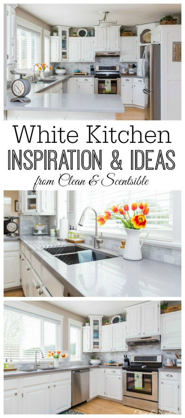 White Kitchen Reveal {Home Tour}