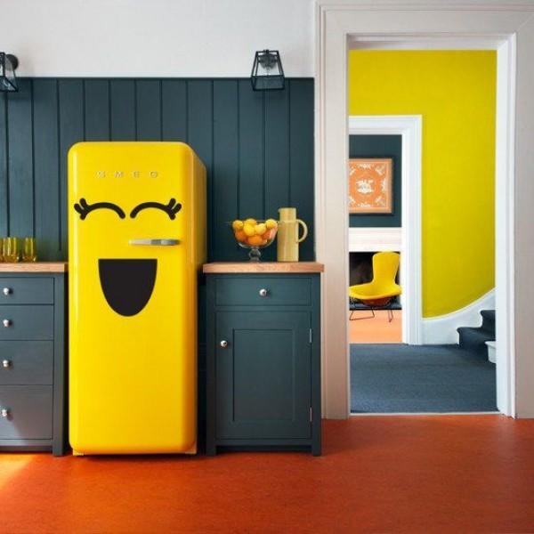 Reinvent Your Kitchen with Striking Fridge Decor  design