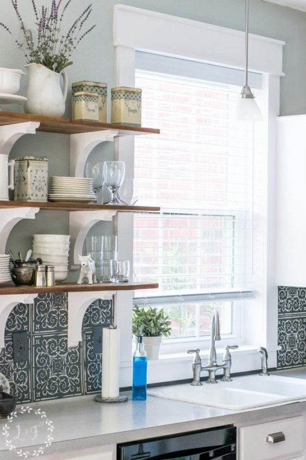 DIY Interior Window Trim and Kitchen Makeover Reveal