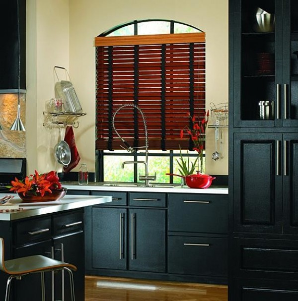 FAUX WOOD BLINDS with CLOTH TAPE