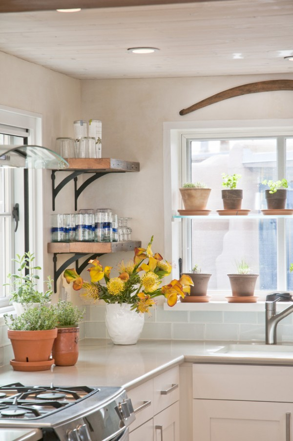 Reclaimed Floating Shelving Designed by Jennifer Ashton, Allied ASID