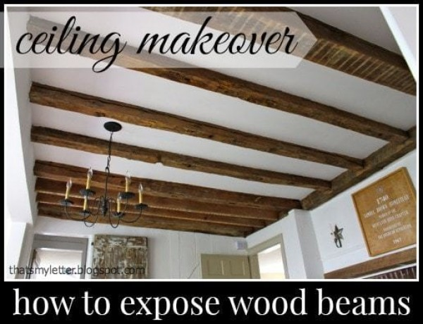 Ceiling Makeover: How to Expose Wood Beams #livingroom #homdecor #interiordesign #ceiling