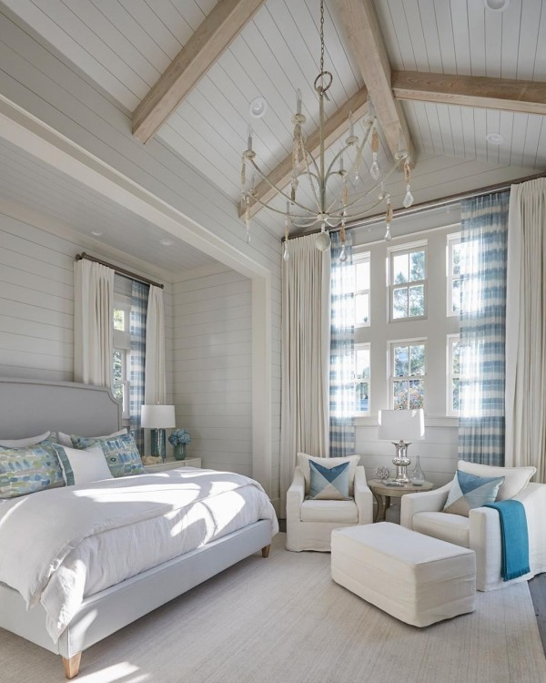 "Southern Home on Instagram: ""This bright and airy master bedroom is only the beginning of the gorgeous beach house in our latest web post. Follow the link in our…"""