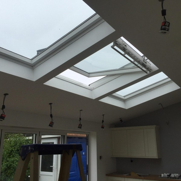 Rear kitchen extension with vaulted ceiling design