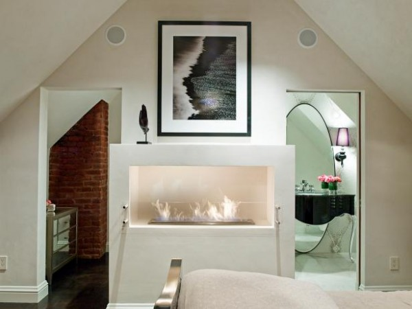 Small Home With Bedroom Fireplace, Vaulted Ceiling