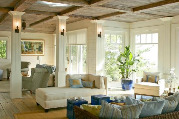 Westport Island House #ceiling #homedecor #interiordesign #ceilingdesign #wooden