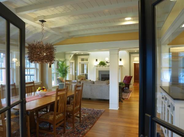 Carmel Residence: Dining Area #ceiling #homedecor #interiordesign #ceilingdesign #wooden