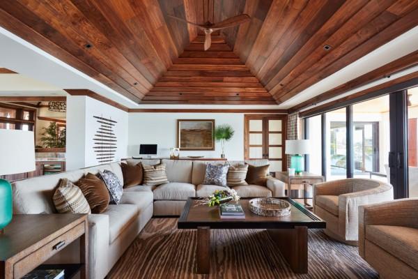 Tropical Living Room #ceiling #homedecor #interiordesign #ceilingdesign #wooden
