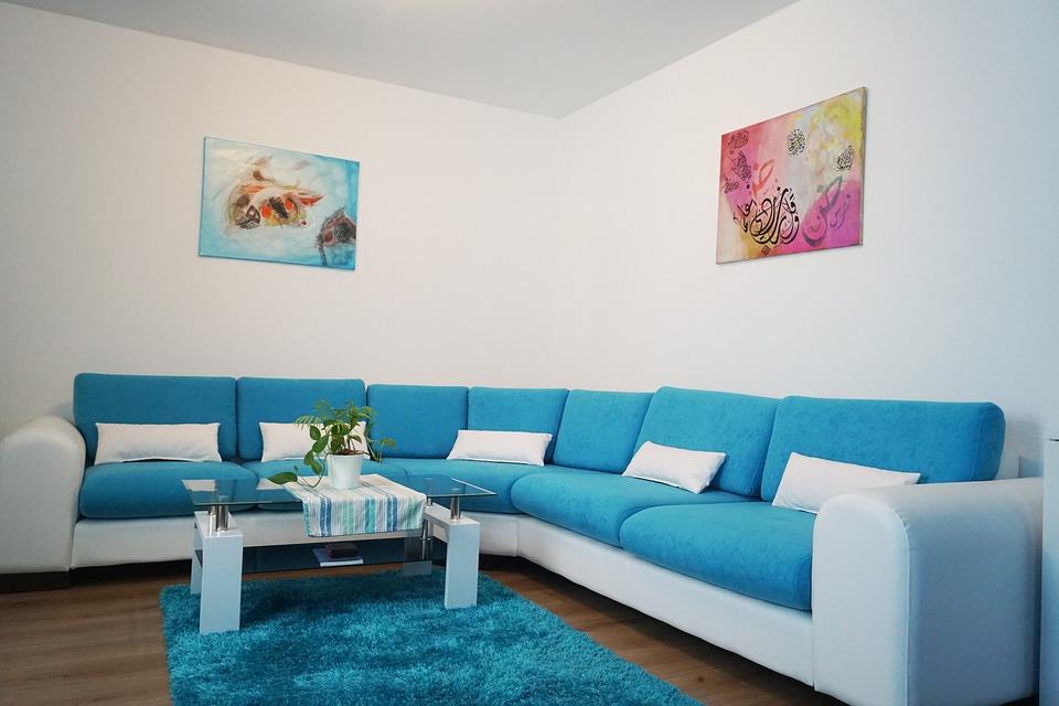 Blue Sofa Living Room Decor  from industrystandarddesign.com