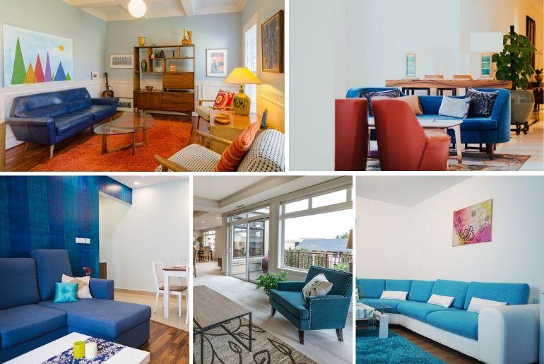 15 Stunning Living Room Ideas With A Blue Sofa For Unique Decor