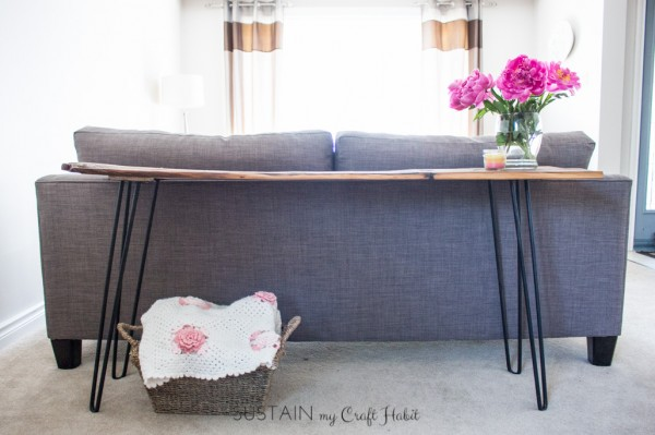 DIY Console Table with Barn Board