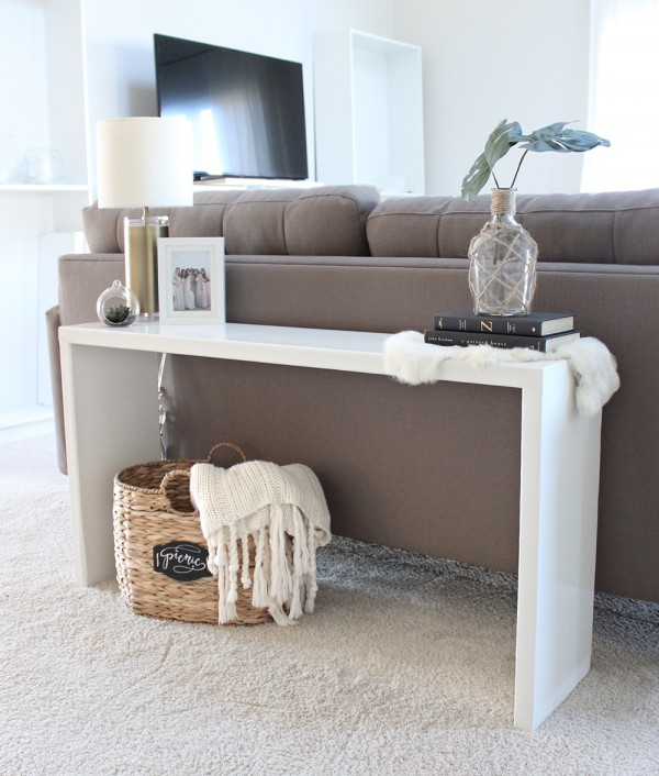 DIY Wood Console Table