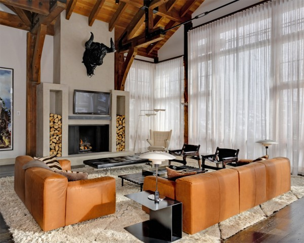17 Creative Living Room with a Leather Sofa Decorating Ideas