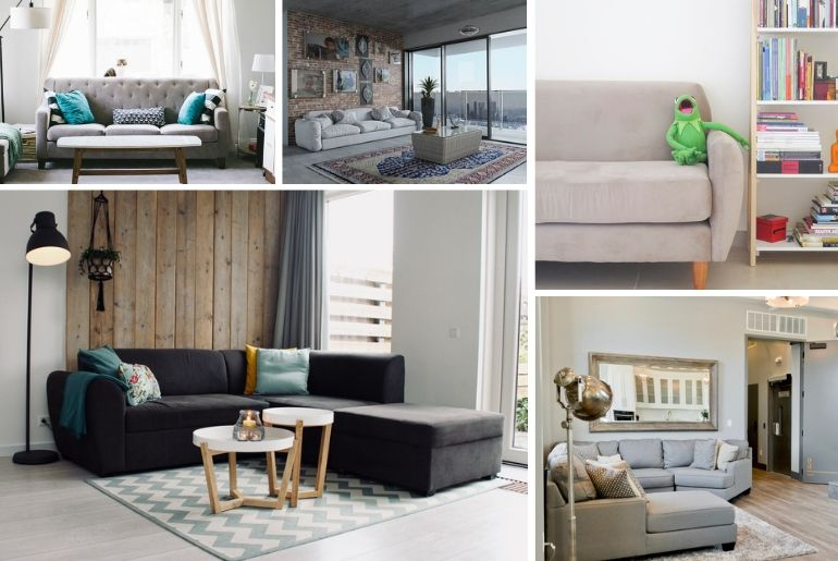 20 Creative Living Room Ideas with a Grey Sofa and the Best Color ...