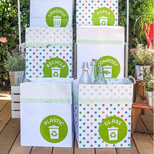 Recycle Bin Labels for Parties and Everyday