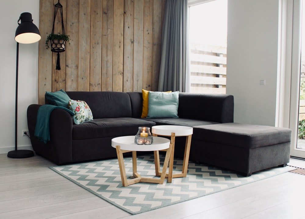sectional wood accent wall
