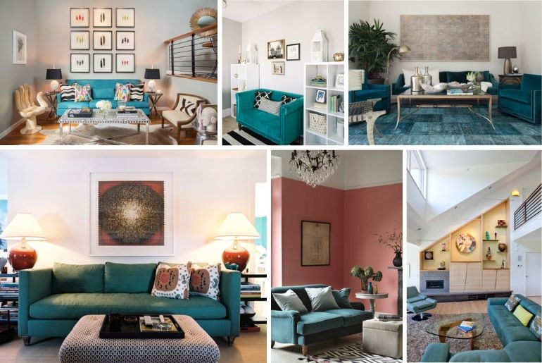 teal sofa ideas