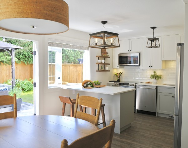 Modern Lighting and Shaker Cabinets