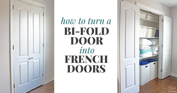 How to Turn a Bi-Fold Door into French Doors