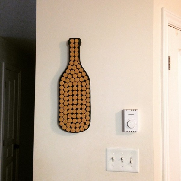 repurposed cork art