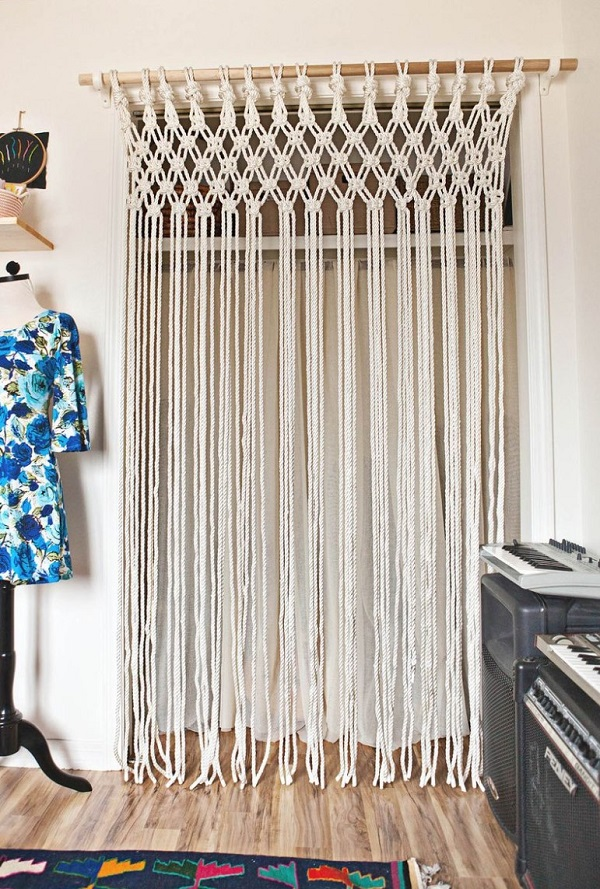 macrame alternative to closet doors