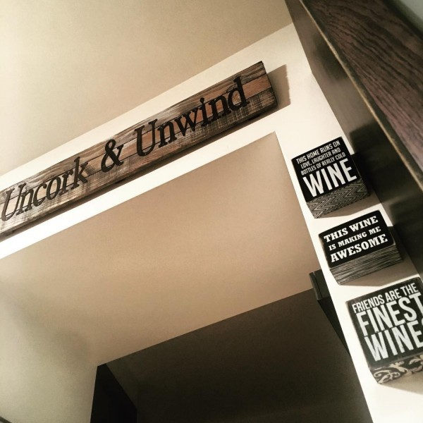 wall signs about wine