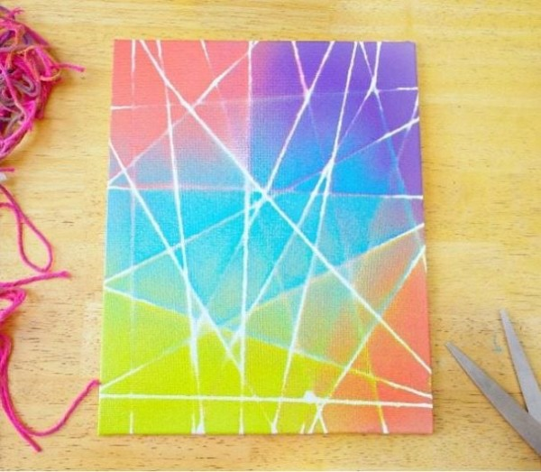 String Art Canvas Graffiti